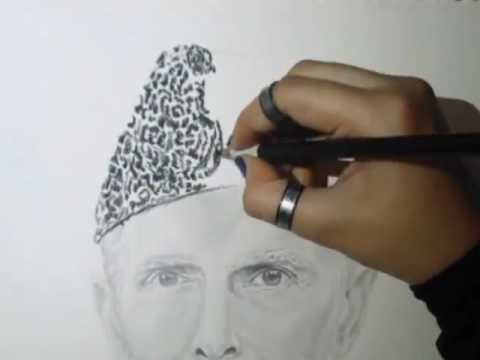 Amazing sketch of the founder of pakistan quaid e azam must watch