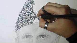 Amazing Sketch of the founder of Pakistan Quaid e Azam | Must Watch