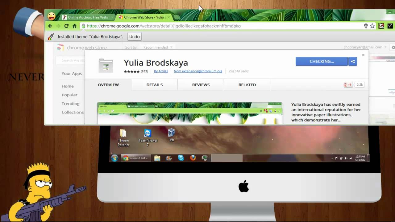 how to install and uninstall themes in google chrome hd youtube