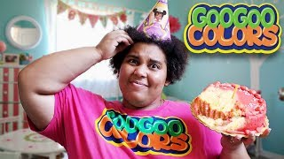 OOPS I DROP MOM'S BIRTHDAY CAKE! LEARN HOW TO SPELL WITH GOO GOO COLORS
