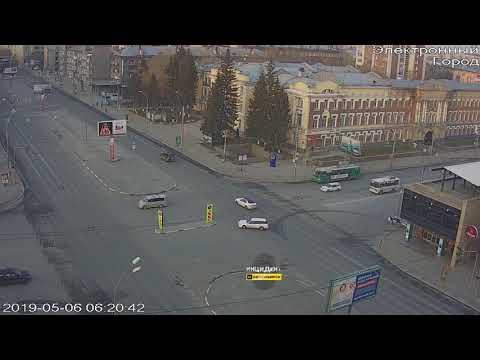 Новосибирск. ДТП на Красном проспекте.
