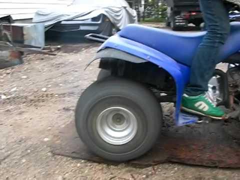 Yamaha badger burnout youtube for Yamaha badger 80 tires