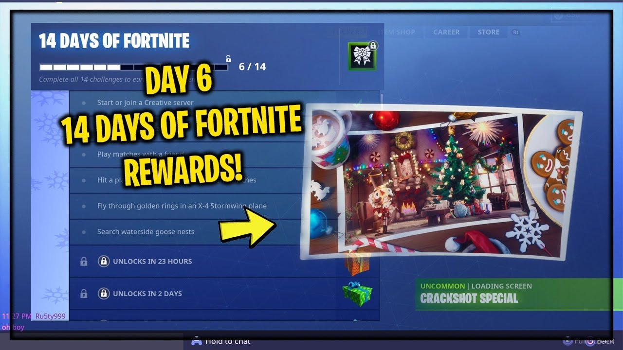 The New Day 6 Fortnite Free Rewards Gameplay New Day 6 Item