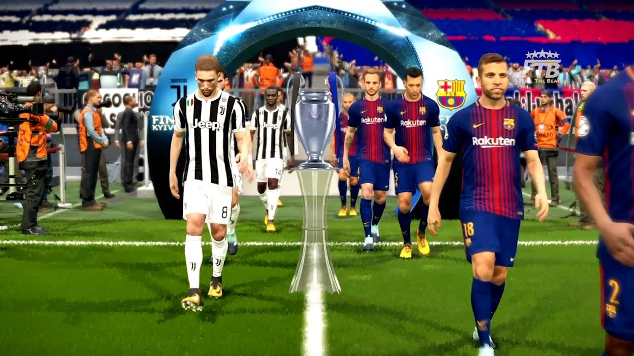 Barcelona Vs Juventus Uefa Champions League Final 2018 Full Match Gameplay Pes 2018 Youtube