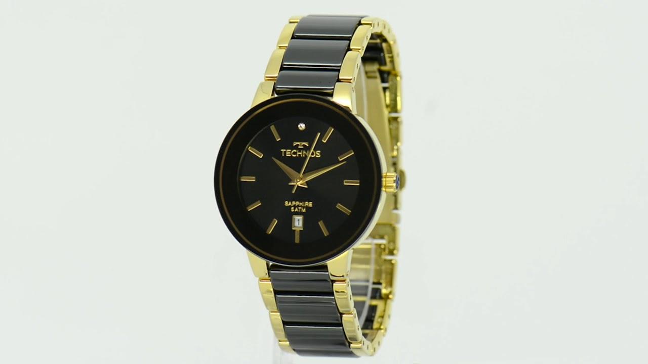 Relógio Technos Feminino Ceramic Saphire 2115KRS 4P - Eclock - YouTube b175c74d7c
