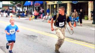 Marine Helps Boy Finish Race, Melts Hearts (PIC) Jeff Drenth Memorial Race