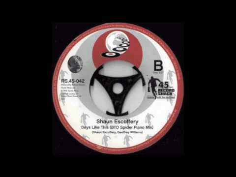 RS.45-042 Shaun Escoffery - Days Like This (Spinna Vocal Mix BTO Spider 45ed) b/w Piano Mix