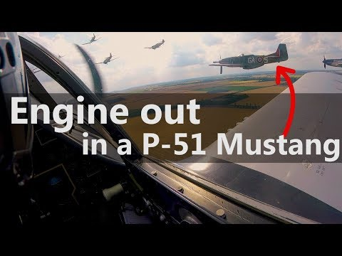 P-51 Engine Out, Off-Airport Landing - clip