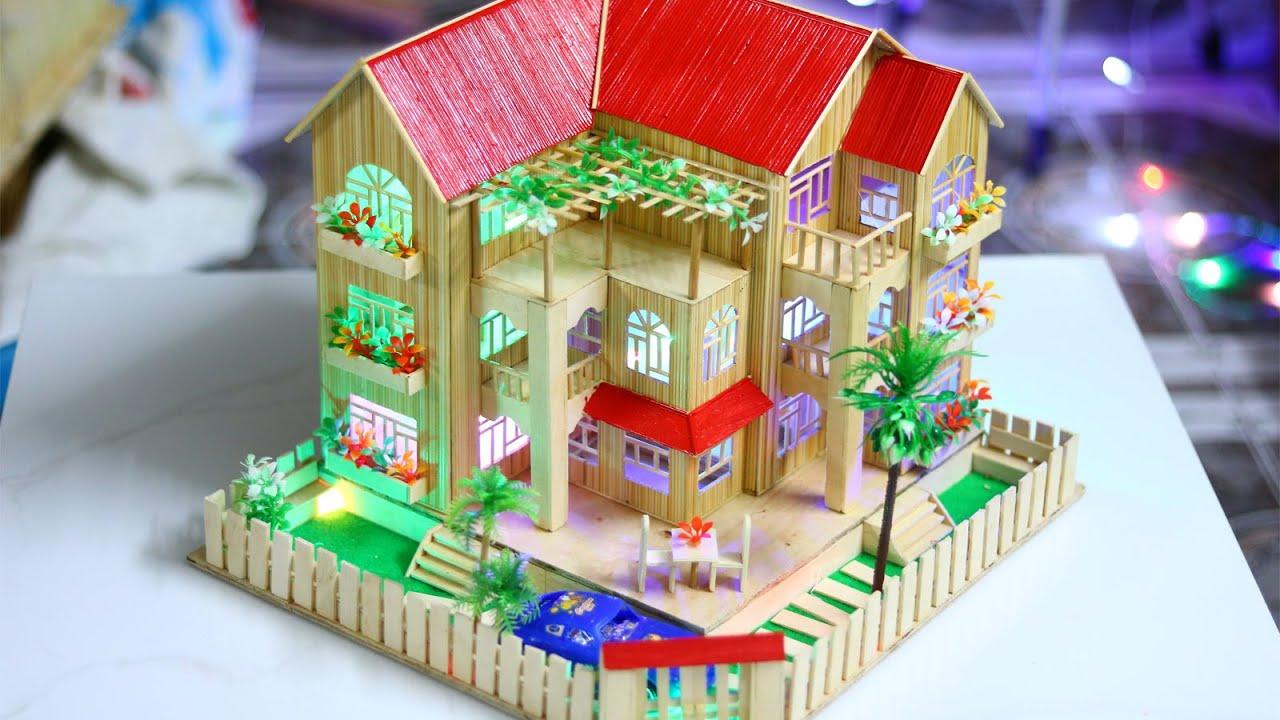 Nhà Tăm Tre 3 tầng N-3A có hướng dẫn cách làm và bản vẽ ...