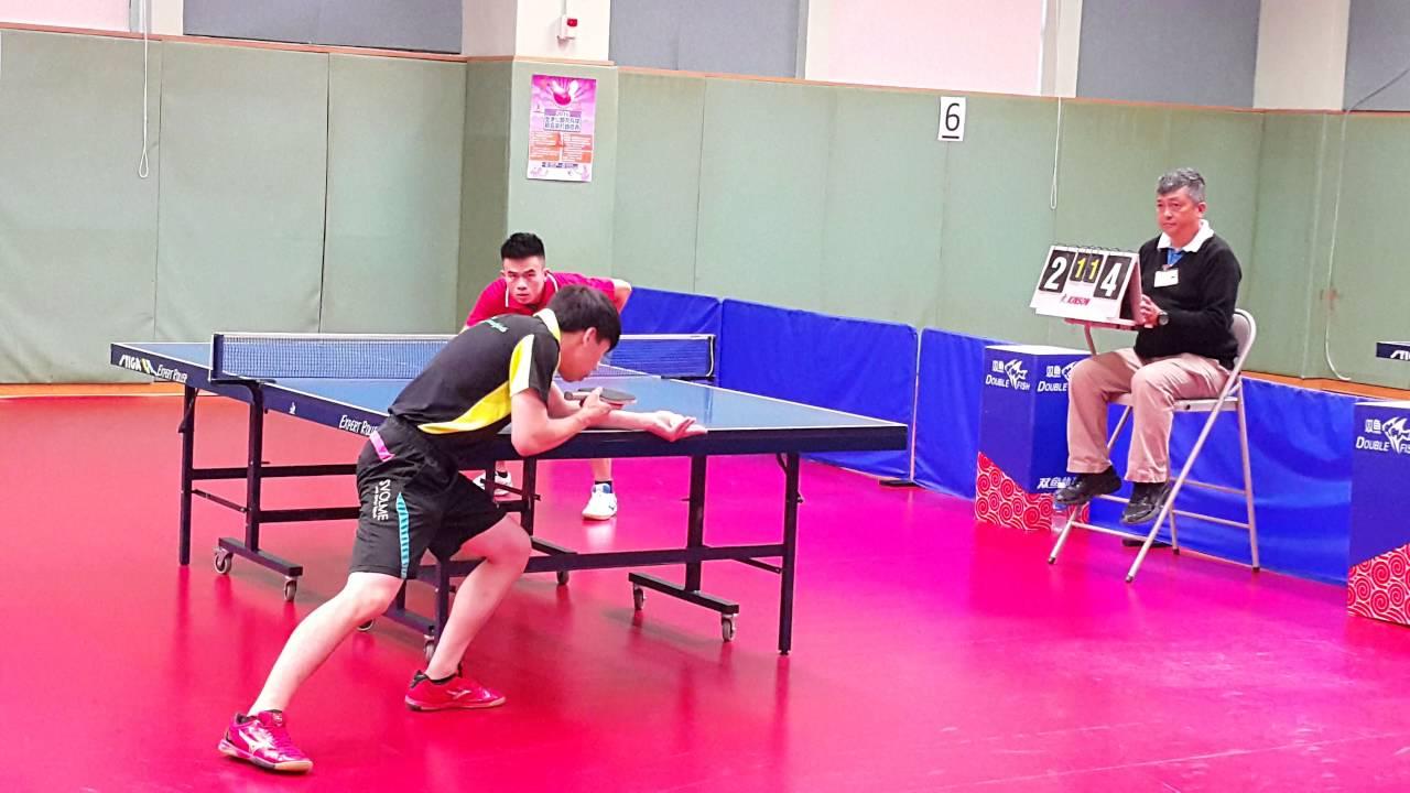 20160731_乒乓球總會主辦 全港公開乒乓球排名單打錦標賽(2016)C(八強賽) - YouTube