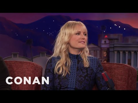 Malin Akerman's Painful, Pinchy Wire Stunt   CONAN on TBS