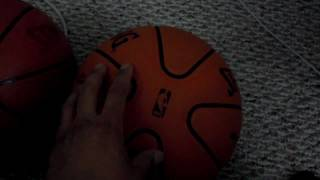 spalding official old rejected 2006 nba game ball (synthetic material & 2 panel design) basketball