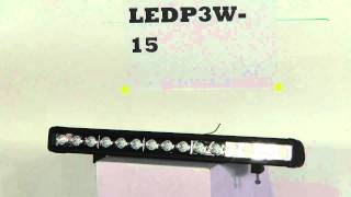 LEDP3W-15 - Low Profile, High Intensity LED Light Bars - 15, 3-Watt LEDs - 9-42VDC - 3420 Lumen(LED Light Bar contains 15, 3-watt high powered LEDs providing 45 watts of LED light power. This unit is able to sense incoming voltage and adapt, ranging from ..., 2011-02-18T02:54:56.000Z)