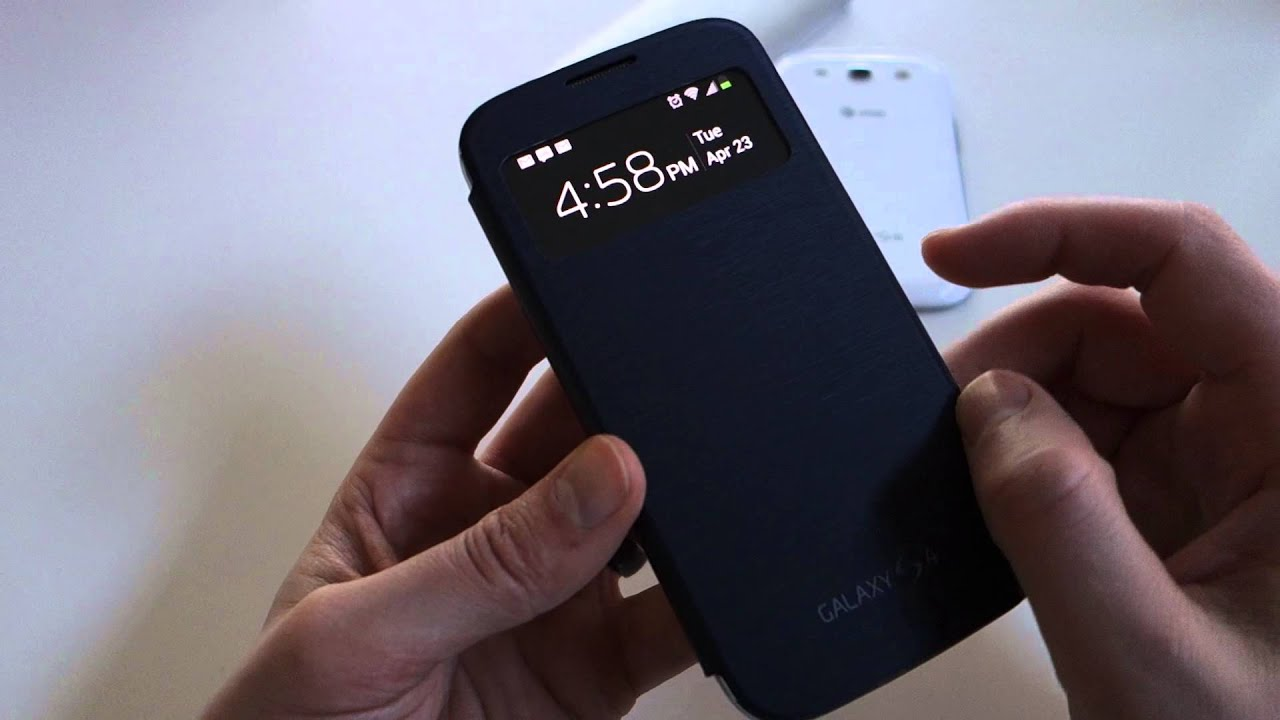 Quick look samsung galaxy s4 s view flip cover youtube ccuart Image collections
