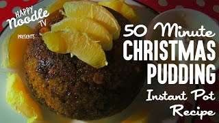 50 minute Christmas Pudding in Pressure Cooker (Instant Pot Recipe)