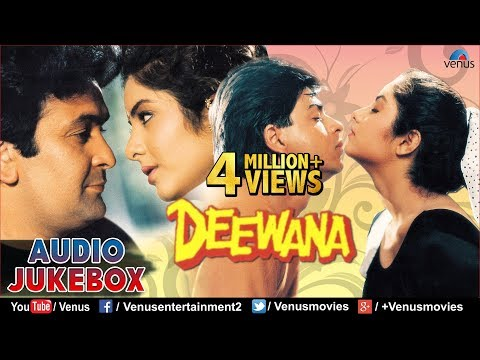 Deewana  90s Romantic Songs  Shahrukh Khan, Rishi Kapoor, Divya Bharti  JUKEBOX  Hindi Songs