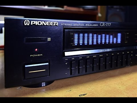 Pioneer GR-777 Stereo Graphic Equalizer Vintage Top Pioneer Stereo - No Amplifier No Power Amp