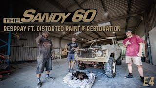 The Sandy 60 | Respray ft. Distorted Paint & Restoration (60 Series LandCruiser build)