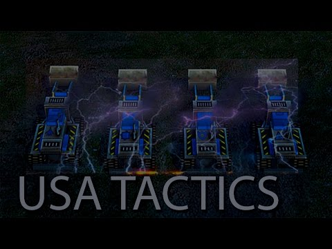 Command & Conquer Generals Zero Hour USA gameplay(tactic)