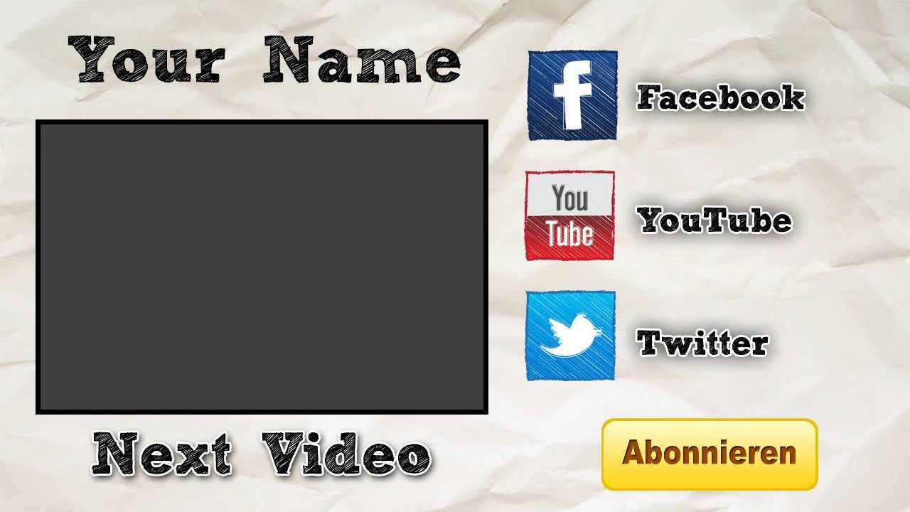 free outro template - free outro template 0002 2d paint net photoshop