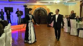 Ч.Узденов, А.Узденова, Р.Катчиев. Карачаевский танец,