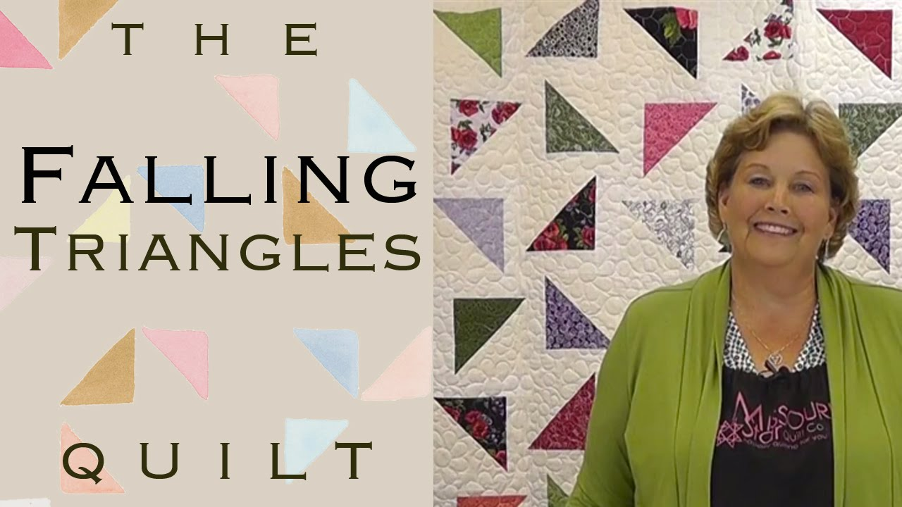 The Falling Triangles Quilt Easy Quilting With Layer