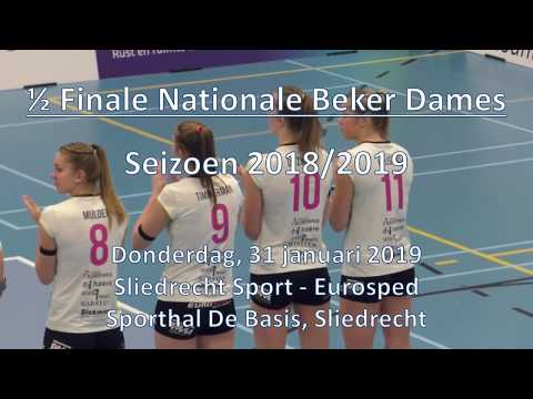 190131 Sliedrecht Sport Dames 1 - Eurosped Dames 1 (1/2 Finale Nationaal Bekertoernooi)