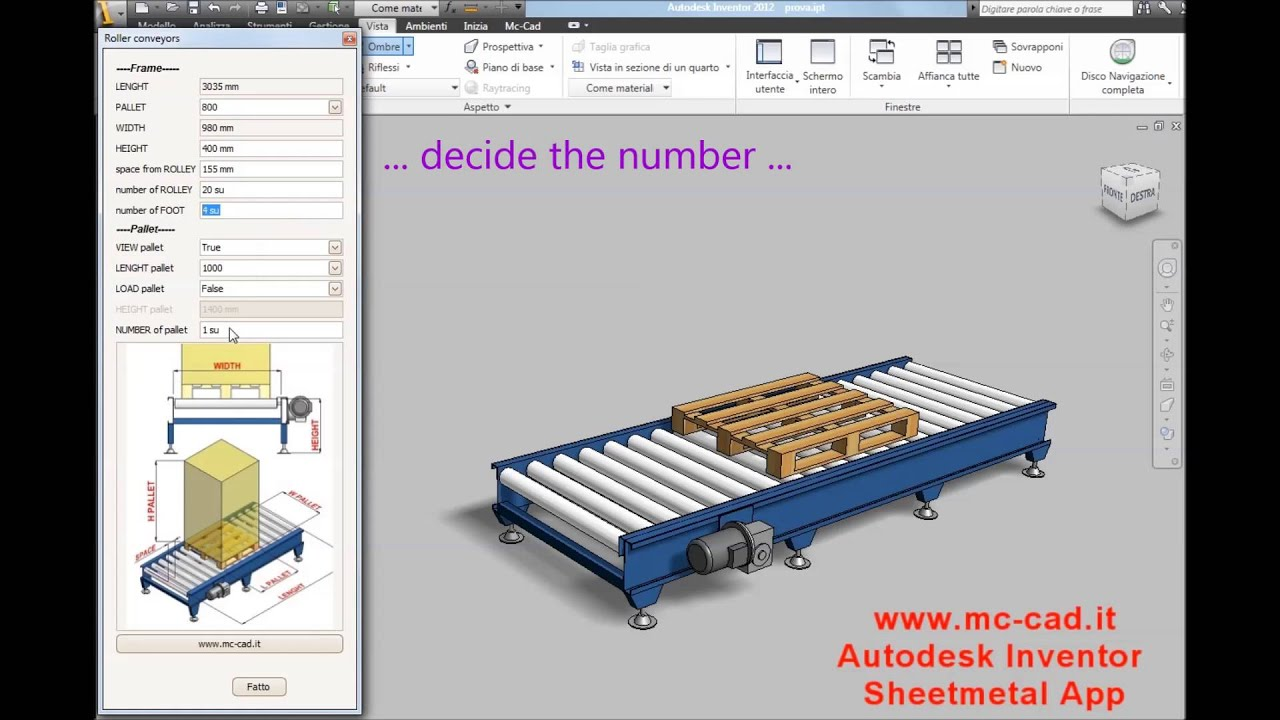 Autodesk Inventor Roller Conveyor For Layout By Ilogic