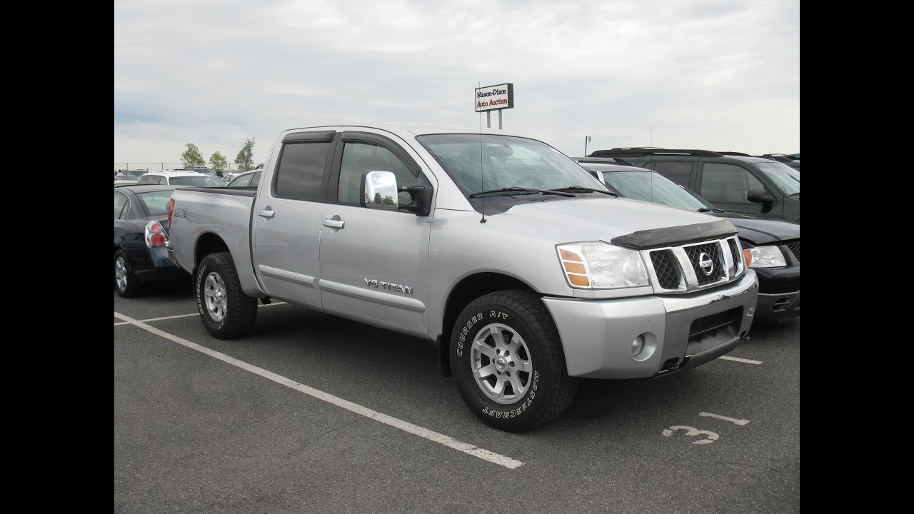 2005 nissan titan se 56l crew cab start up and tour youtube vanachro Choice Image