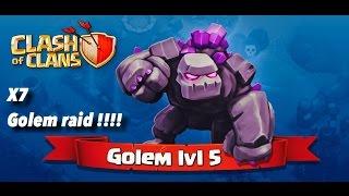 7 golem attack clash of clans