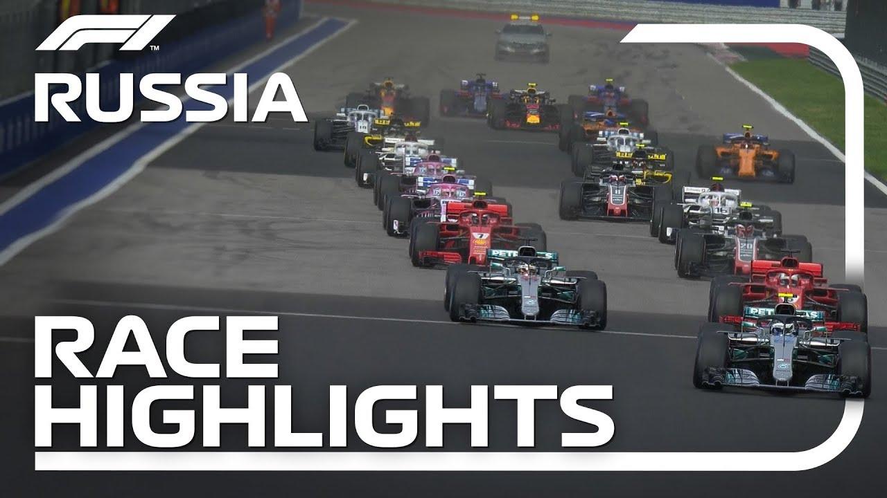 2018 Russian Grand Prix Race Highlights Youtube