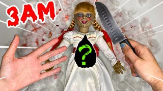 CUTTING OPEN HAUNTED ANNABELLE DOLL AT 3AM!! *WHAT'S INSIDE HAUNTED DOLL*