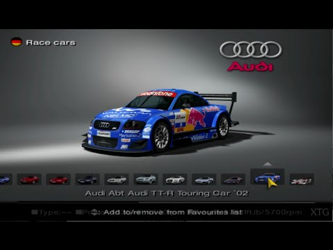 Gran Turismo 4 - Audi Car List HD PS2 Gameplay