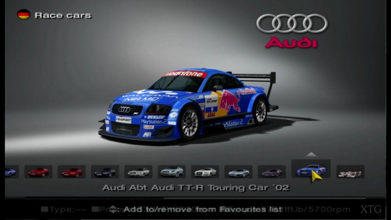 gran turismo 4 audi car list hd ps2 gameplay youtube. Black Bedroom Furniture Sets. Home Design Ideas