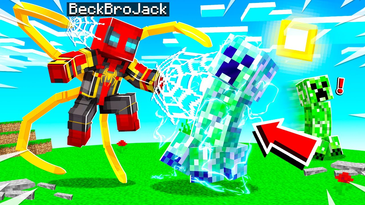 Playing MINECRAFT As IRON SPIDER!