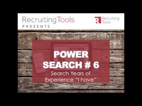 Boolean Power Search # 6: Searching for Years of Experience
