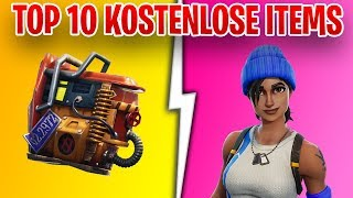 TOP 10 PIELES Y ELEMENTOS GRATUITOS en Fortnite