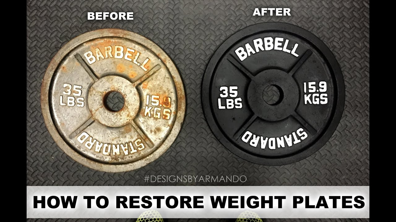 & RESTORING WEIGHT PLATES - YouTube