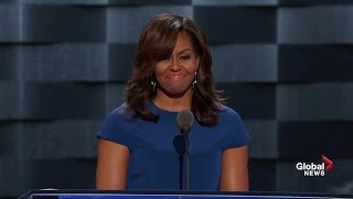 First lady Michelle Obama talks about children being the future in DNC speech