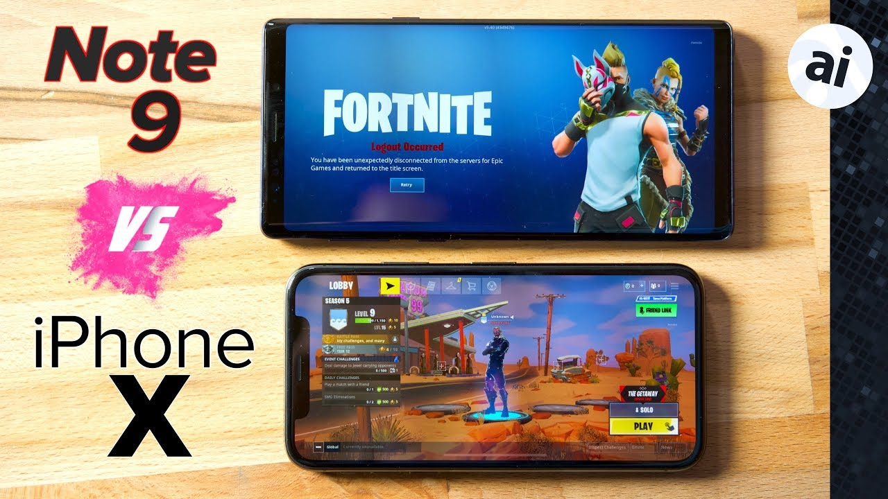 Fortnite: Note 9 vs iPhone X - Which phone for gaming?