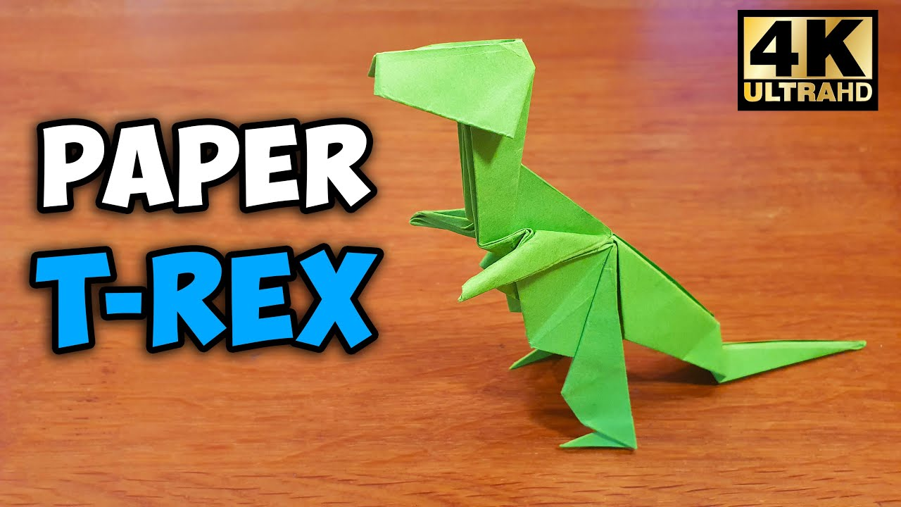 How To Make An Origami T Rex Youtube