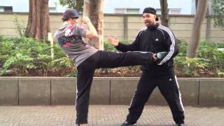 Can you HIGH KICK in a street fight? How to Defeat Dudes Video Blog 4