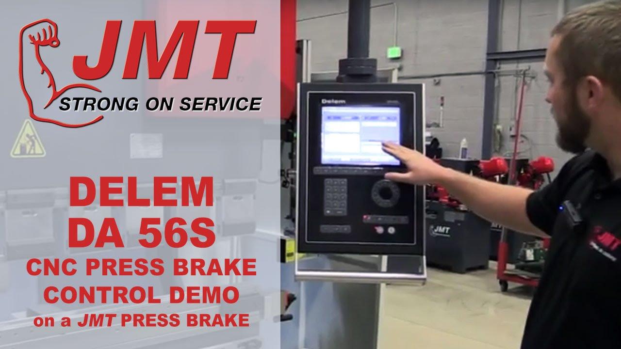 delem da 56s cnc control on a jmt press brake youtube rh youtube com Service Station Owner's Manual