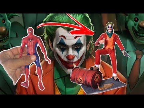 Transformando O Homem Aranha No Coringa Do Joaquin Phoenix ( Toymakeover Joker)