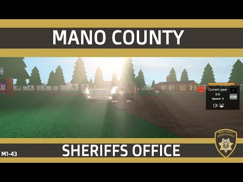 Roblox | Mano County Sheriff's Office | Deputy First Class Patrol