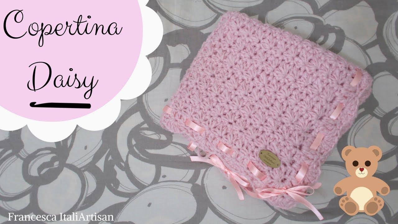 Copertina Daisy Alluncinetto Copertina Neonata Crochet Baby