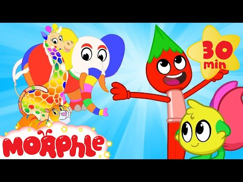 Painting Morphle - The Color Animals | Cartoons for Kids | My Magic Pet Morphle | Morphle TV