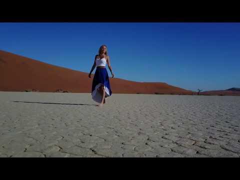Solo Traveling in Deadvlei Desert, Namibia