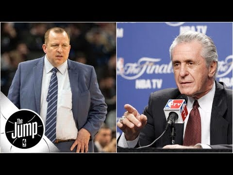 Did Pat Riley tell Tom Thibodeau to 'get your bleeping house in order'? | The Jump | ESPN