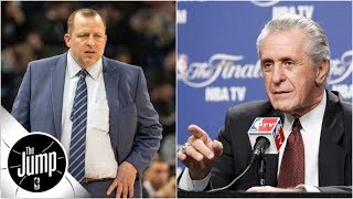 Did Pat Riley tell Tom Thibodeau to \'get your bleeping house in order\'? | The Jump | ESPN